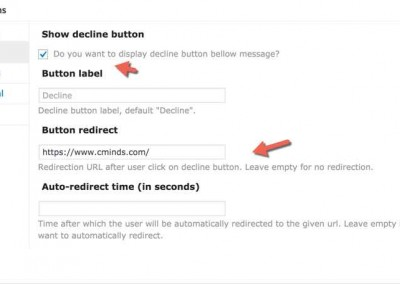 Decline Button Options